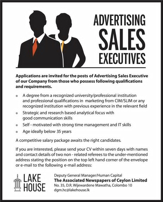 Advertising Sales Executive The Associated Newspapers Of