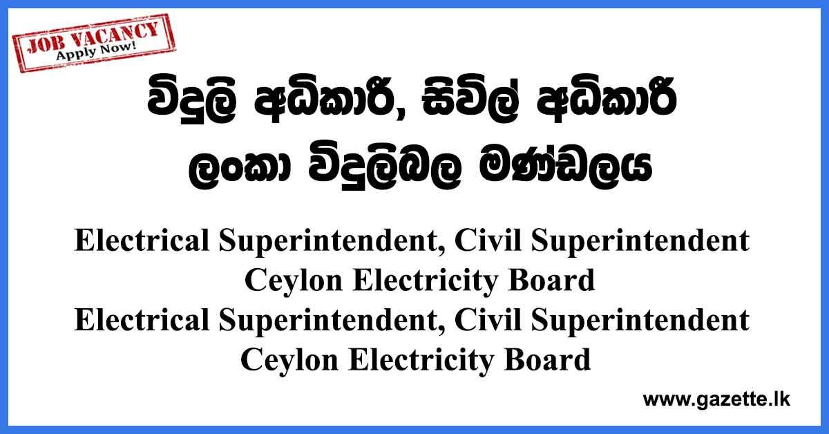 Ceylon-Electricity-Board-Vacancies
