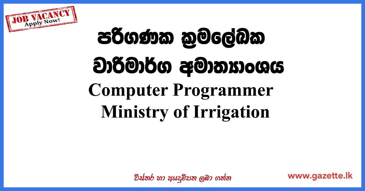 Computer-Programmer-Ministry-of-Irrigation