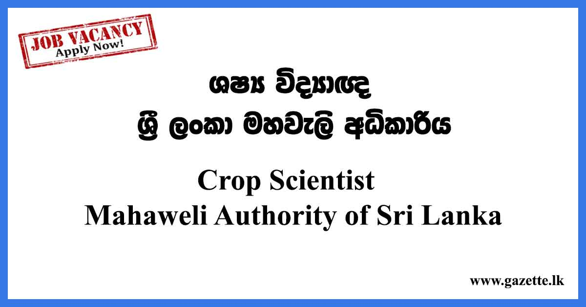 Crop-Scientist-Mahaweli-Authority