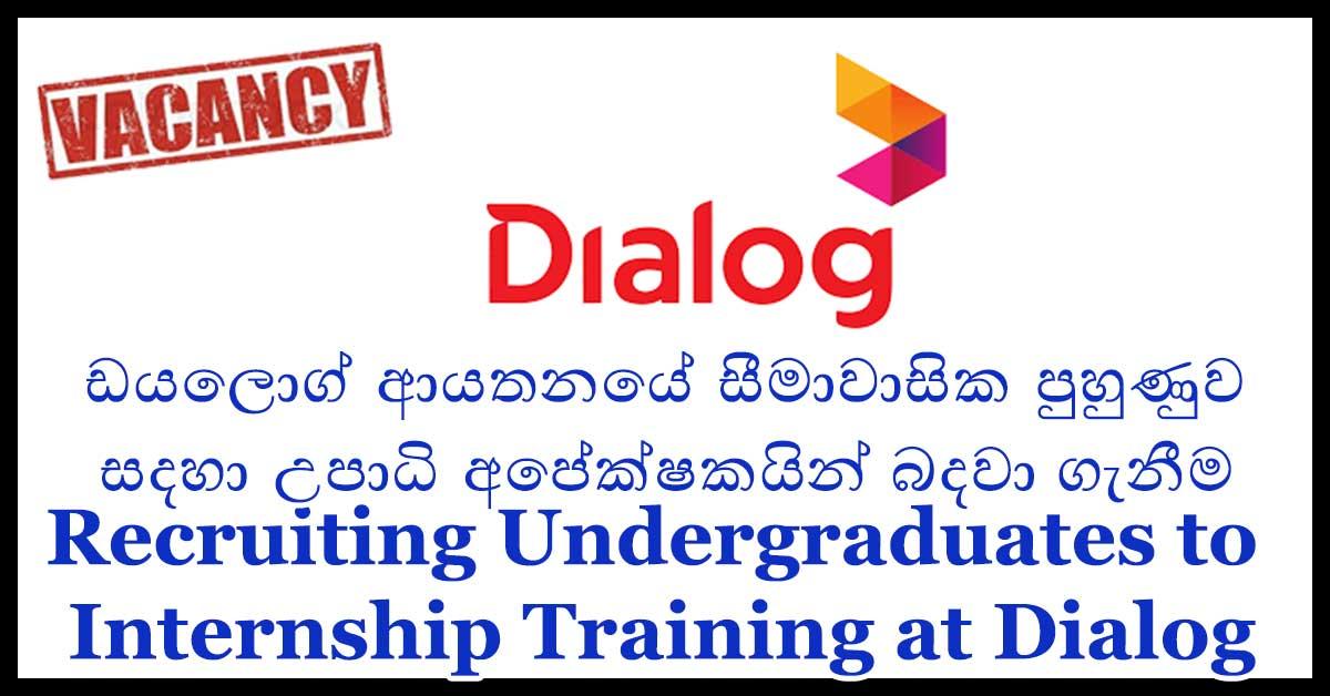 Recruiting Undergraduates to Internship Training at Dialog