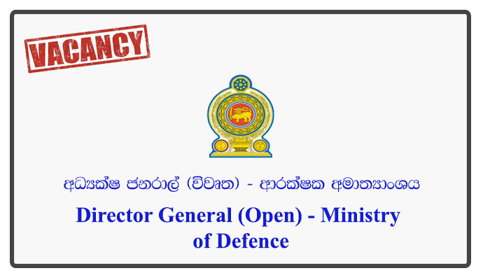 Director General (Open) - Ministry of Defence