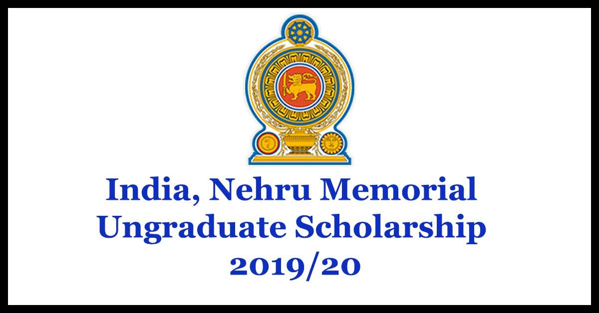 India, Nehru Memorial Ungraduate Scholarship 2019/20