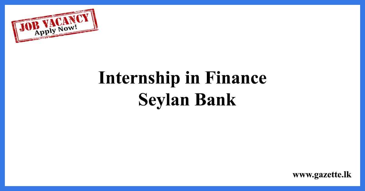 Internship-in-Finance---Seylan-Bank