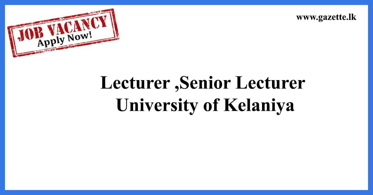 Lecturer-,Senior-Lecturer---University-of-Kelaniya