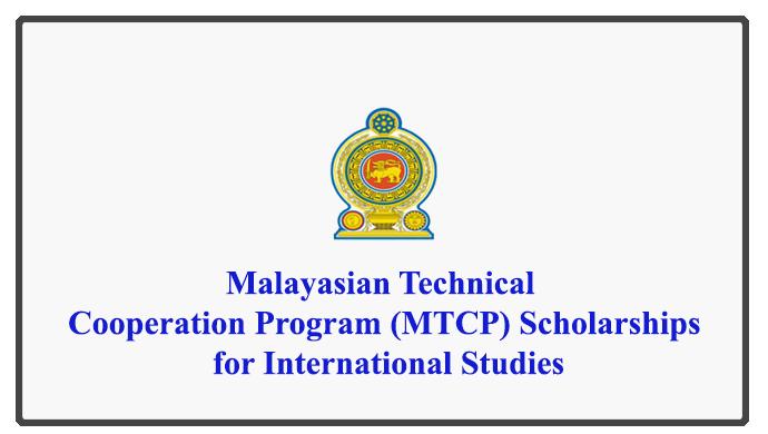 Malayasian Technical Cooperation Program (MTCP) Scholarships for International Studies