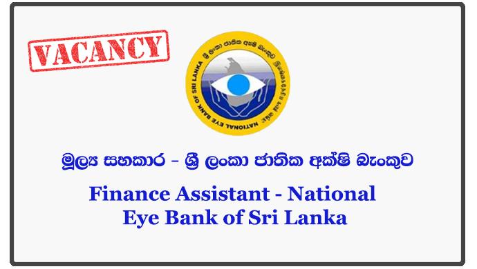 Finance Assistant - National Eye Bank of Sri Lanka