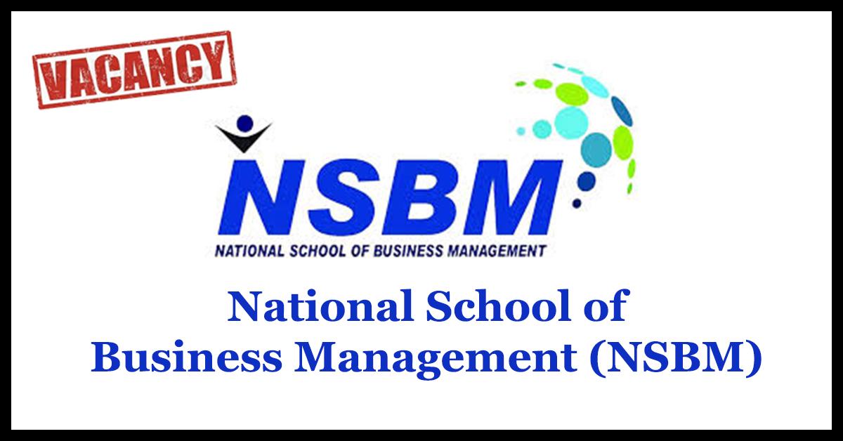 Works Engineer, Technical Officer – National School of Business Management (NSBM)