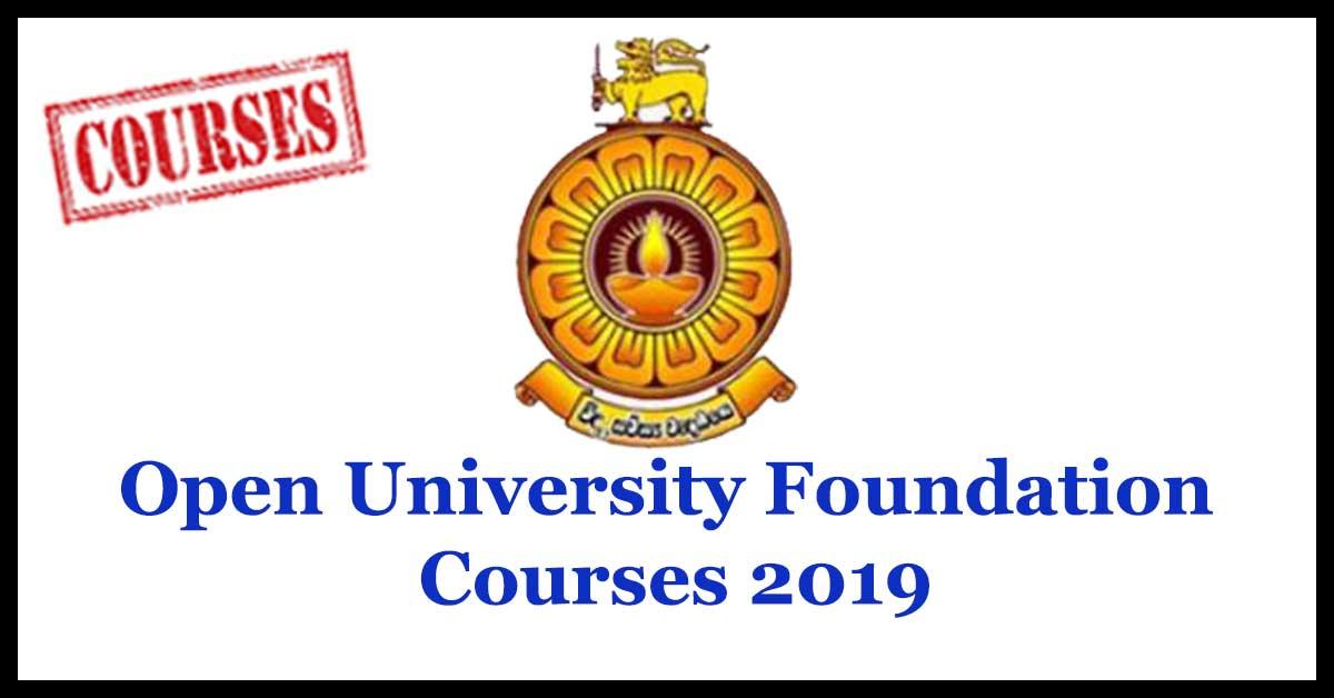 Open University Foundation Courses 2019