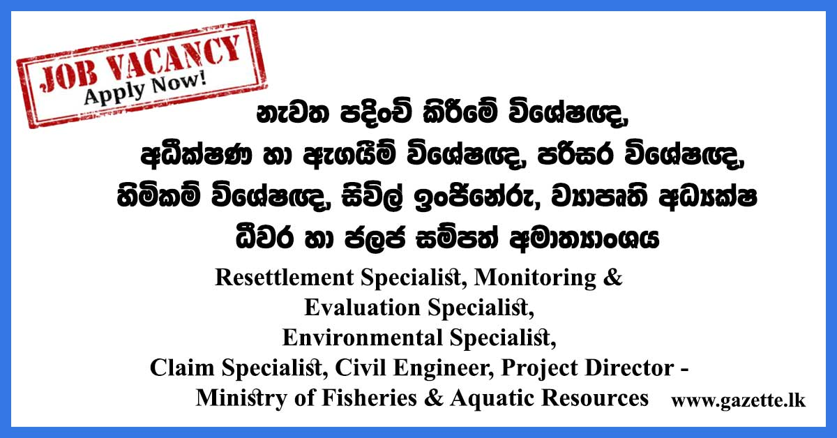 Resettlement-Specialist,-Monitoring-&-Evaluation-Specialist,-Environmental-Specialist,-Claim-Specialist,-Civil-Engineer,-Project-Director