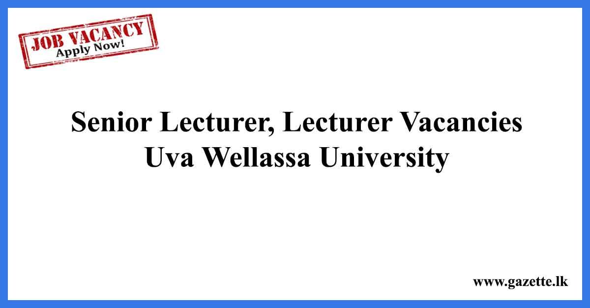 Senior-Lecturer,-Lecturer-Vacancies-Uva-Wellassa
