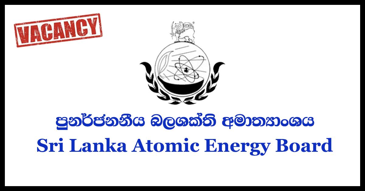 Director General / Chief Executive Officer - Sri Lanka Atomic Energy Board