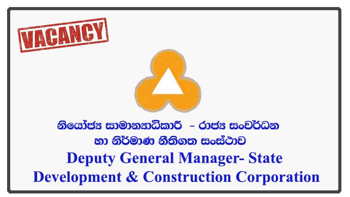 Deputy General Manager (Finance) - State Development & Construction Corporation