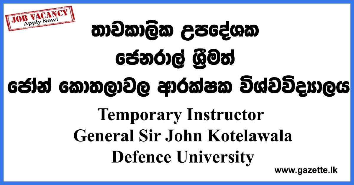 Temporary-Instructor