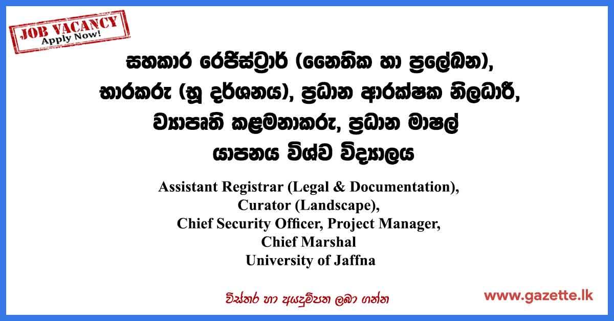 University-of-Jaffna-Vacancies