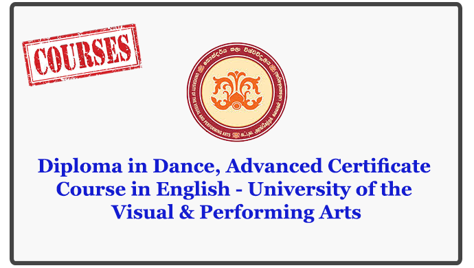 Diploma in Dance, Advanced Certificate Course in English - University of the Visual & Performing Arts
