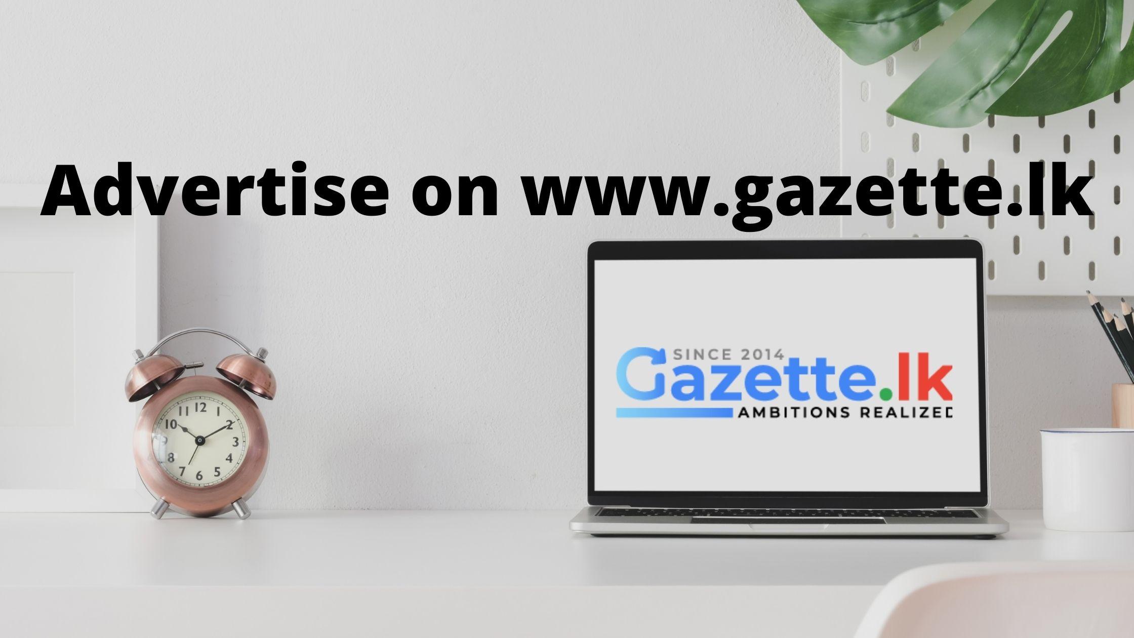 advertise on gazette.lk