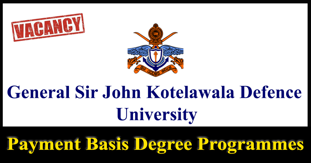 Payment Basis Degree Programmes (Full Time) for Students with Foreign Qualifications - Day Scholars, - KDU