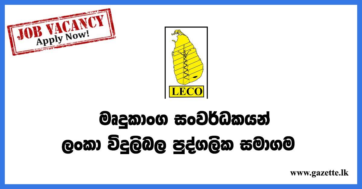 lanka-electricity-private-vacancies
