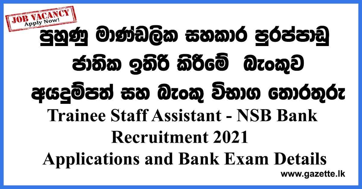 nsb-trainee-staff-assitant