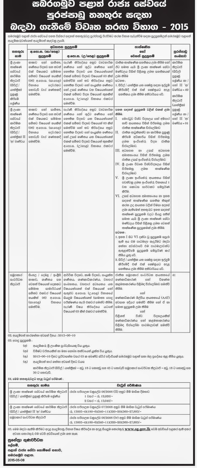 ministry of health application forms